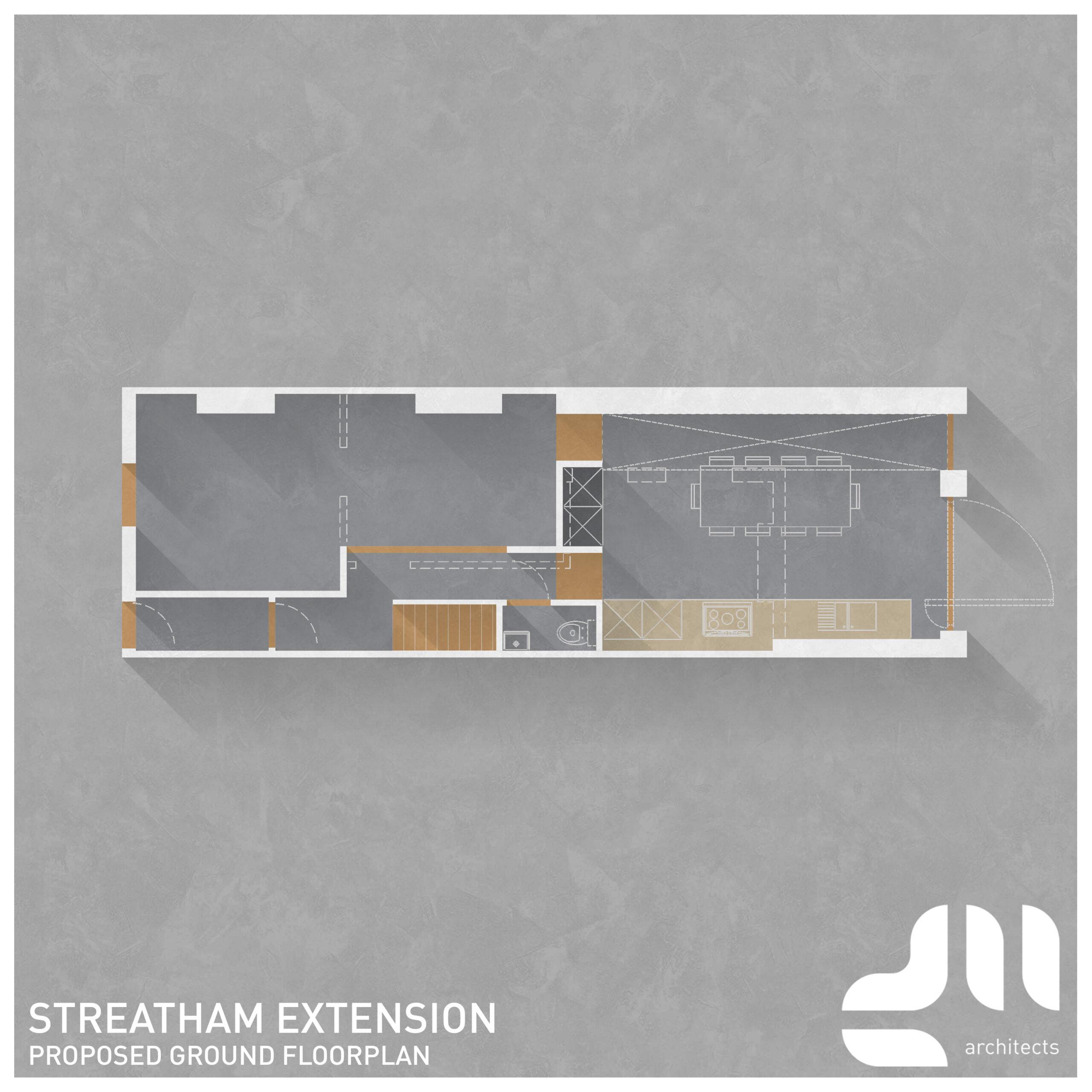Floor Plan Single Storey Extension, Streatham, London SW16