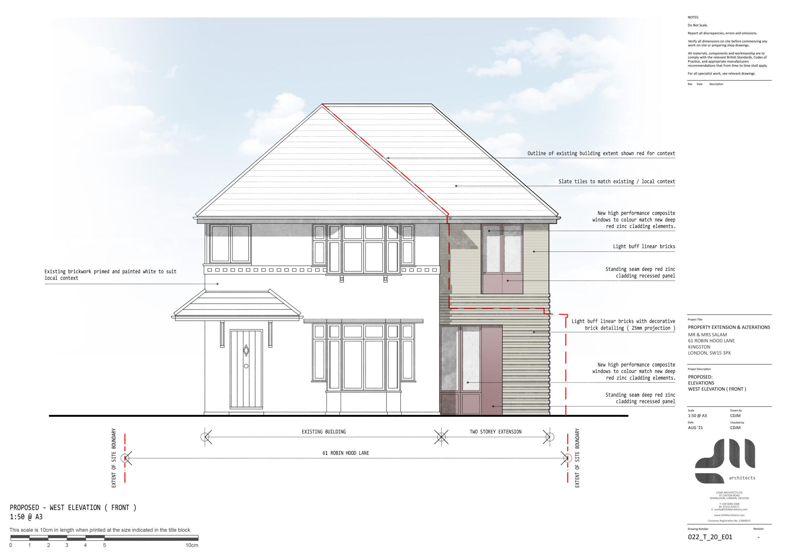 Front Elevation - Modern Two Storey Extension, Kingston, London SE15
