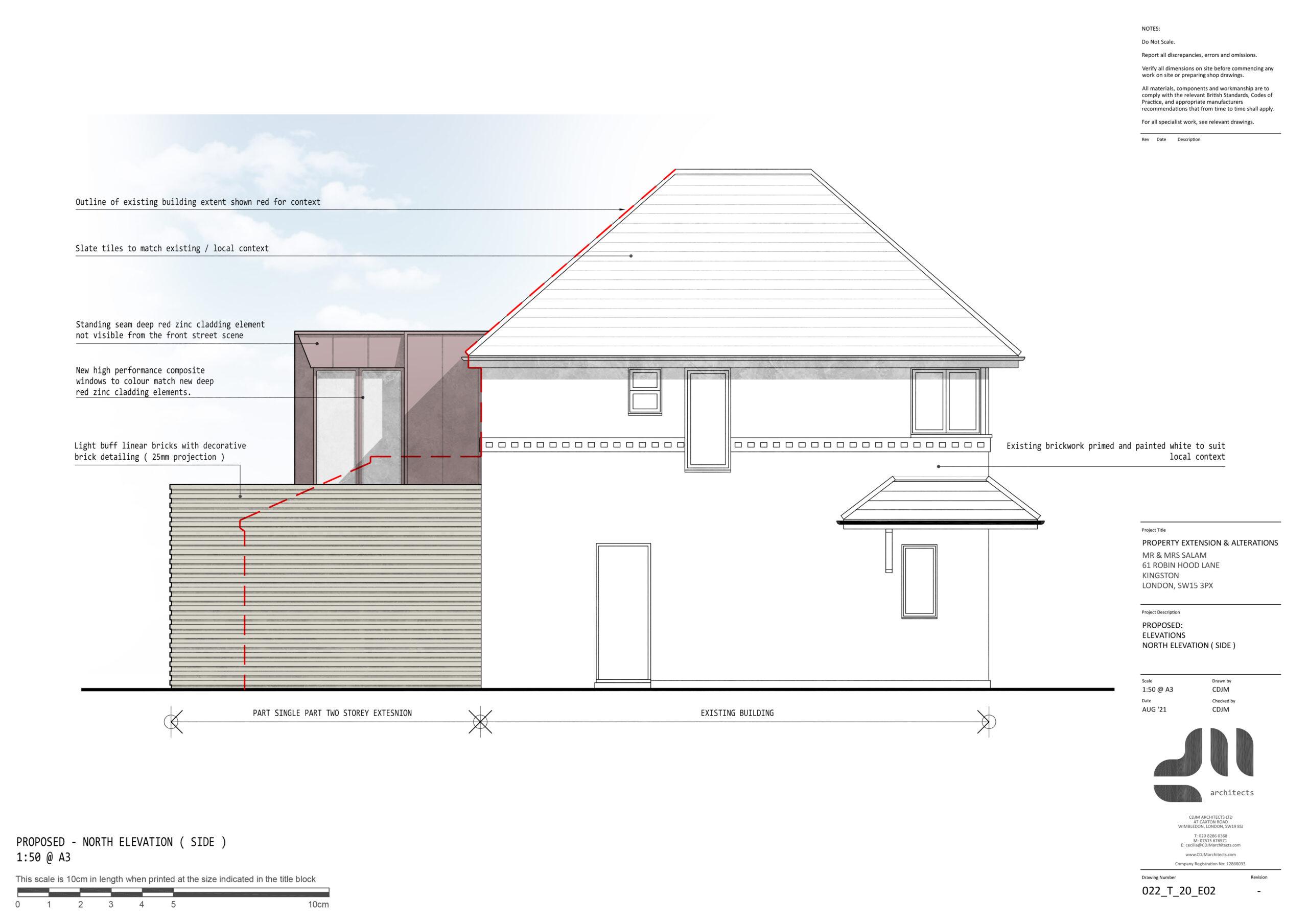 Side Elevation - Modern Two Storey Extension, Kingston, London SE15