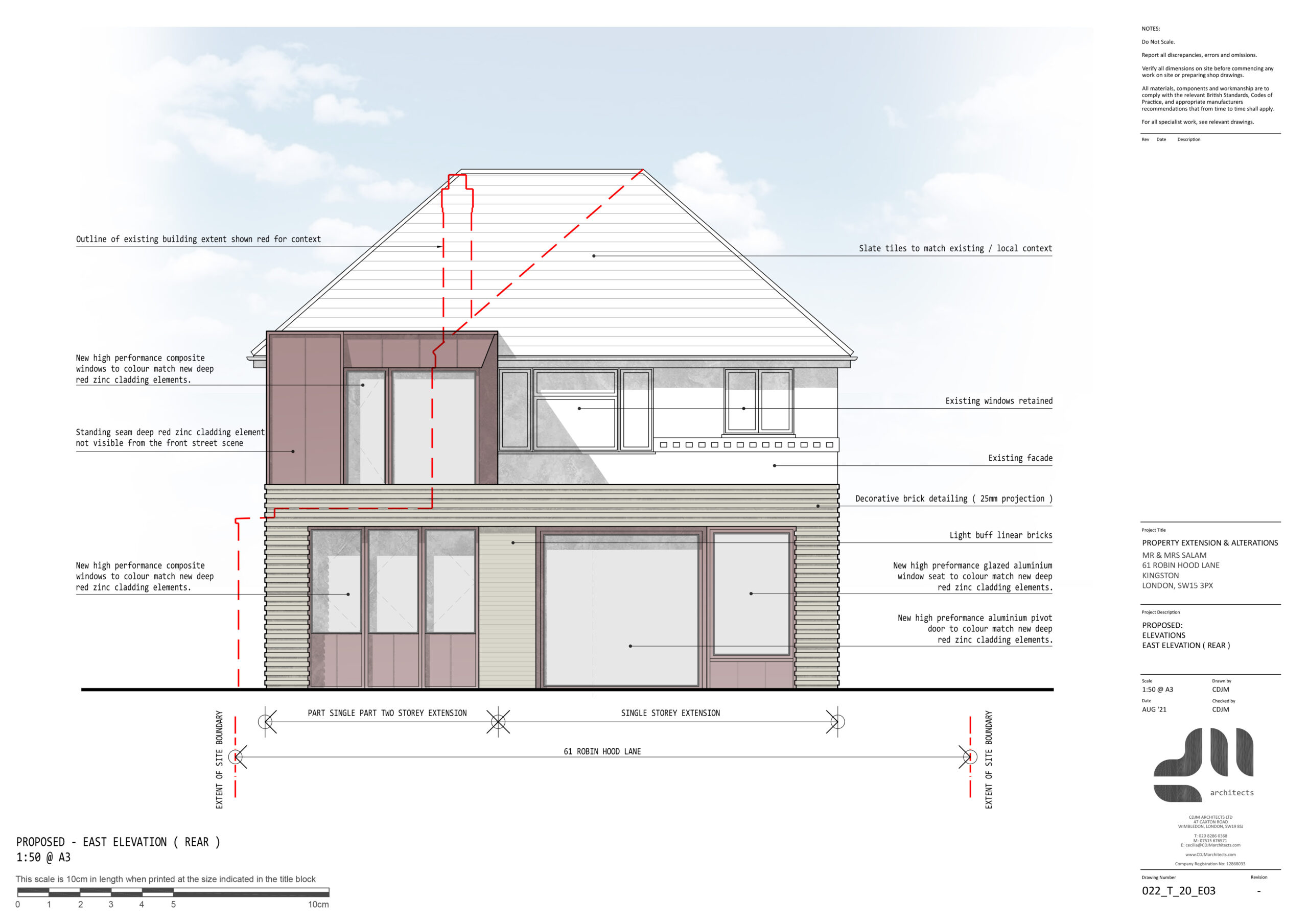 Rear Elevation - Modern Two Storey Extension, Kingston, London SE15