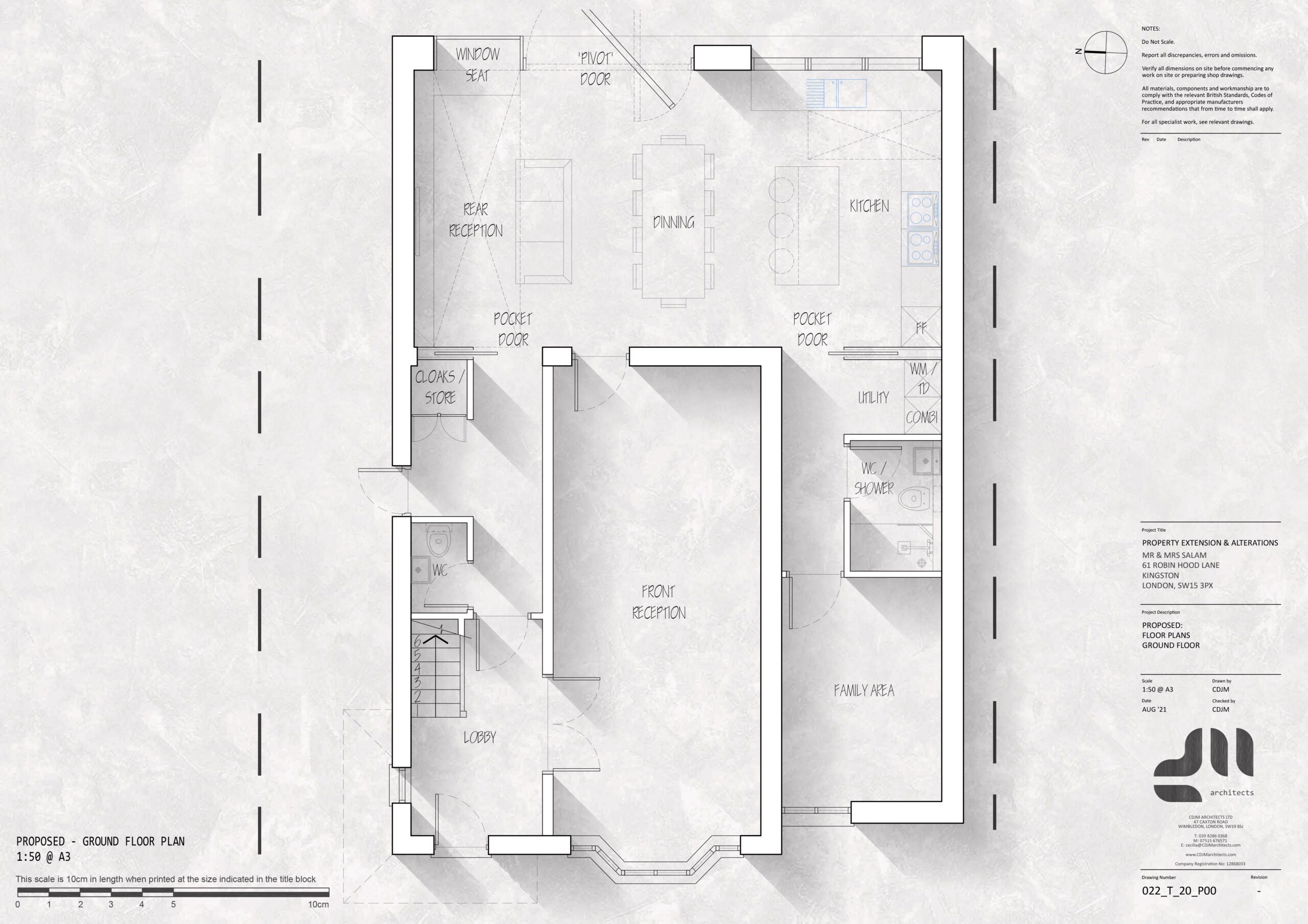 Ground Floor Plan - Modern Two Storey Extension, Kingston, London SE15